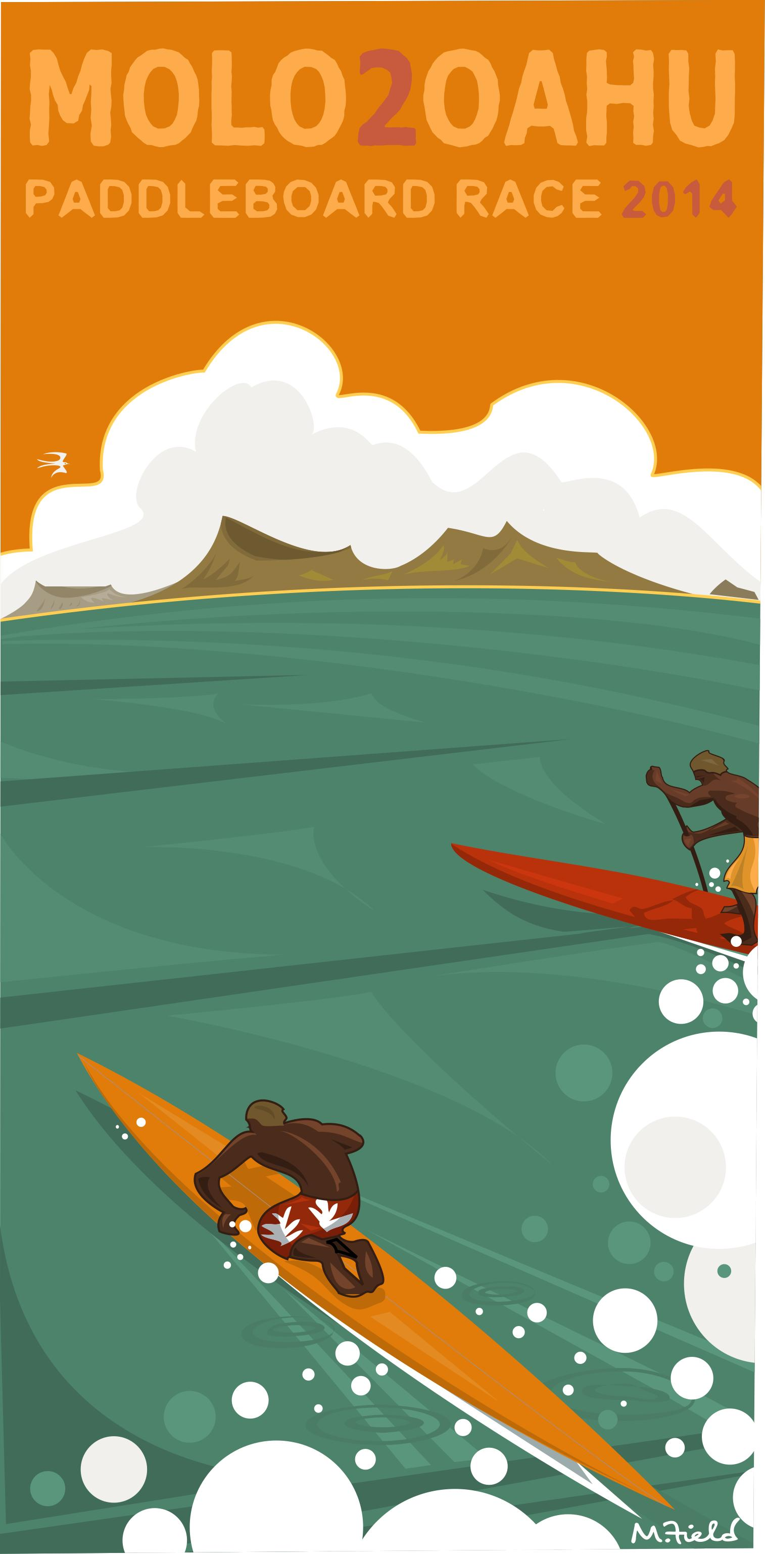 Official Artwork Unveiled for 18th Annual Molokai-2-Oahu Paddleboard World Championships