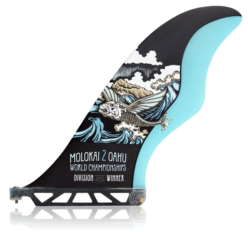 Futures Fins create custom fin featuring race artwork for division champions